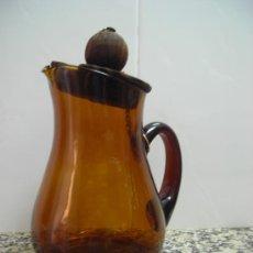 Antigüedades: JARRA CRISTAL COLOR CARAMELO. Lote 26744785