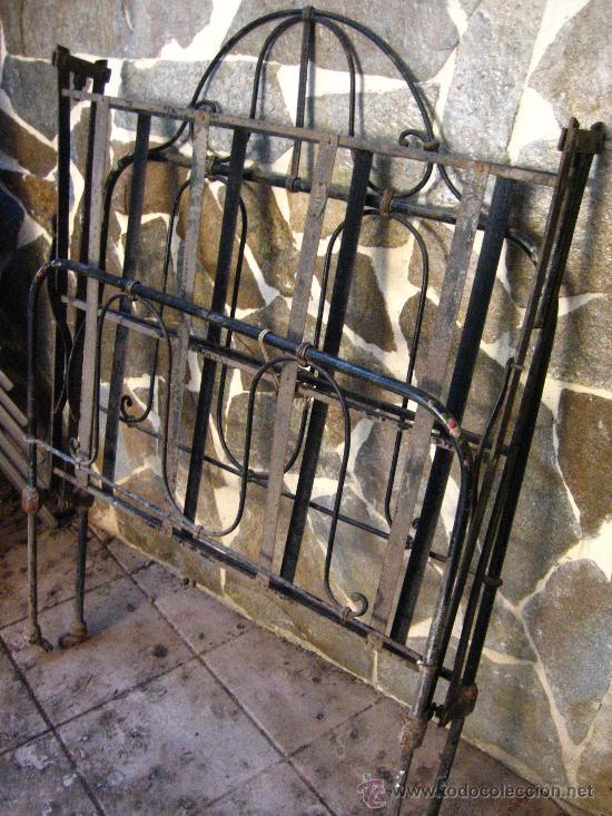 Antigua cama llamada de monja en hierro forjado comprar camas antiguas en todocoleccion 27211219 - Camas de hierro antiguas ...
