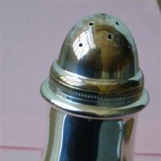 Antigüedades: SALERO DE METAL PLATEADO. Lote 26752997