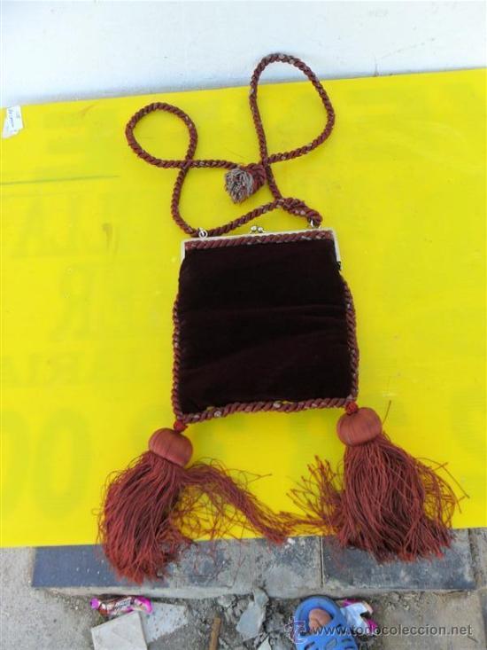 ANTIGUO BOLSO DE SEÑORA EN TERCIOPELO (Antigüedades - Moda - Bolsos Antiguos)