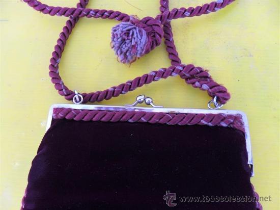 Antigüedades: antiguo bolso de señora en terciopelo - Foto 2 - 26793244