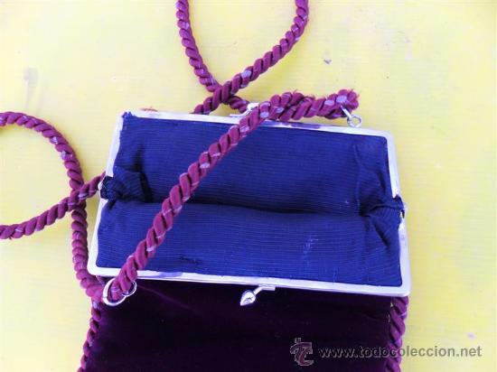 Antigüedades: antiguo bolso de señora en terciopelo - Foto 3 - 26793244