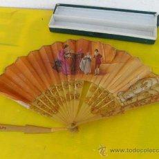 Antigüedades: ABANICO DE ASTA DE TORO O CAREY. Lote 26794060