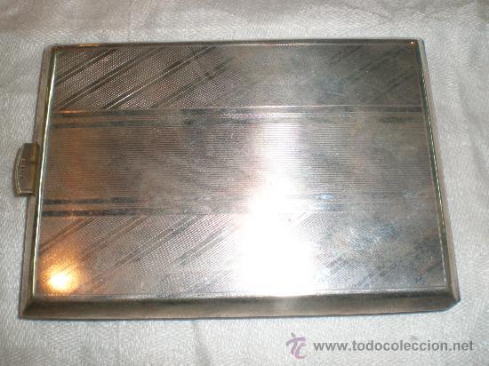 PITILLERA DE ALPACA ANTIGUA (Antigüedades - Platería - Bañado en Plata Antiguo)