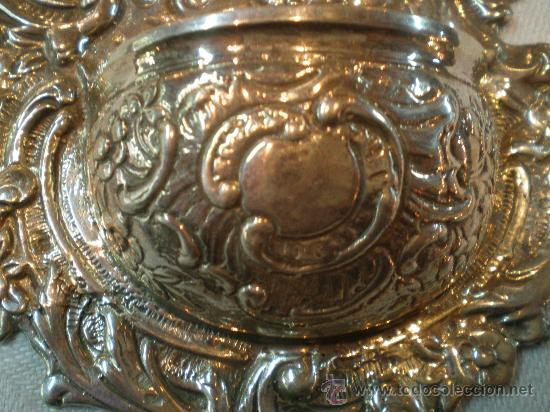 Antigüedades: pila de agua bendita de plata virgen con el niño xx - Foto 3 - 26844299