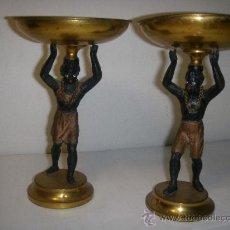 Antigüedades: PAR DE COPAS DE DECORACION DE PRINCIPIOS S.XX. Lote 26977346