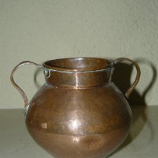Antigüedades: JARRON DECORATIVO DE COBRE. Lote 282184323