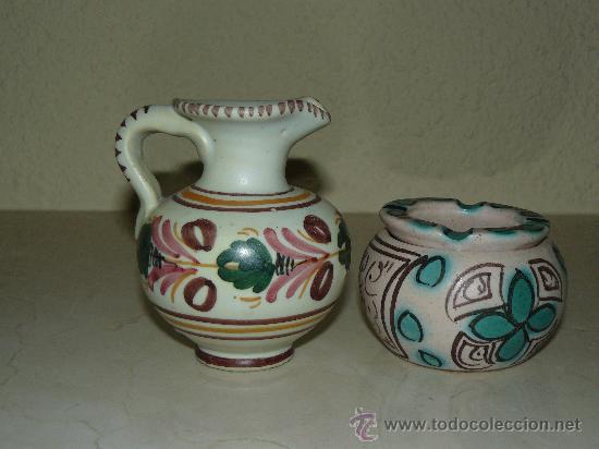 DOS PIEZAS DE CERAMICA PUNTER Y TALAVERA (Antigüedades - Porcelanas y Cerámicas - Talavera)