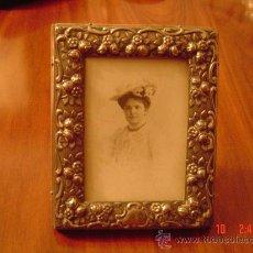 Antigüedades: ANTIGUO MARCO DE PLATA PARA FOTOS . Lote 27008716