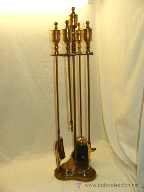 Antiguo juego de accesorios para chimenea en br vendido - Accesorios de chimeneas ...