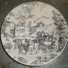 Antigüedades: PLATO HONDO DE 20 CMS. DE DIÁMETRO. SAN CLAUDIO.. Lote 27146253
