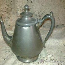 Antigüedades: CAFETERA DE PELTRE. Lote 27188611