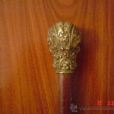 Antigüedades: BASTON BRONCE TALLADO. Lote 27165827