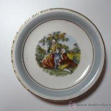 Antigüedades: ANTIGUO PLATO DECORADO-PORCELANA SANTA CLARA. Lote 27171746