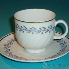 Antigüedades: TAZA Y PLATO DE PORCELANA. MARCA EN BASE BAREUTHER WALDSASSEM. BAVARIA-GERMANY. 182. AÑO 1970-1993. Lote 27311361