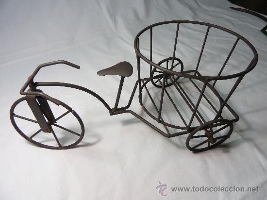 Macetero bicicleta de hierro comprar maceteros antiguos - Maceteros de hierro ...