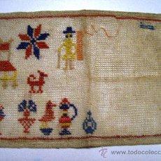 Antigüedades: ANTIGUO PAÑO BORDADO A MANO / AÑOS 20 - 30. Lote 27328012