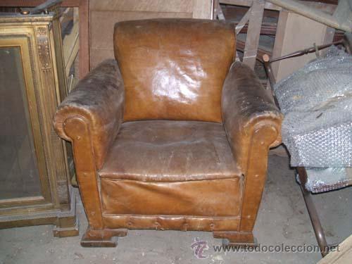 sillon de cuero con patas de madera, para resta - Comprar Sillones ...