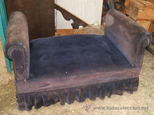 Sillon div n tapizado en terciopelo azul para comprar - Sillones antiguos tapizados ...
