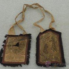 Antigüedades: ESCAPULARIO DE S.XIX DE TAMAÑO GRANDE. SAN FRANCISCO DE ASIS. . Lote 27333593