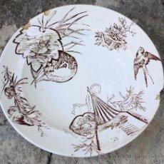 Antigüedades: PLATO SOPERO PICKMAN S.XIX. Lote 27334940