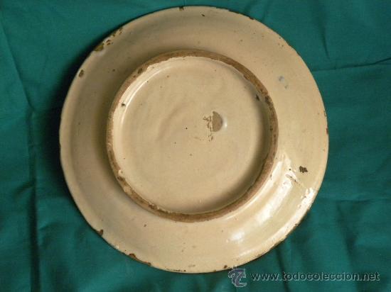 Antigüedades: Plato ceramica Triana ( Sevilla) con casa y pájaros princ,S.XX - Foto 8 - 27384582