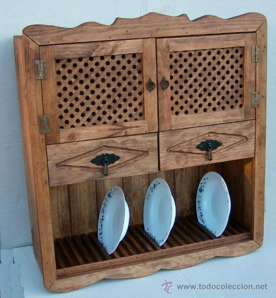 Platero de madera con puertas de celosia y dos comprar - Cajones de madera antiguos ...