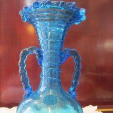 Antigüedades: JARRÓN EN CRISTAL SOPLADO. Lote 27401161