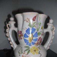 Antigüedades: PRECIOSA Y ANTIGUA JARRA DE NOVIA .FIRMADA LARIO. Lote 27428547