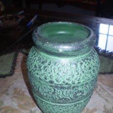 Antigüedades: JARRON DE BARRO COCIDO MONOCROMADO. Lote 27439695