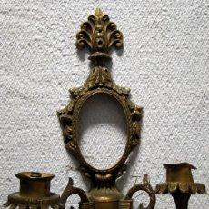Antigüedades: PRECIOSO CANDELABRO -APLIQUE DE BRONCE.. Lote 27460288