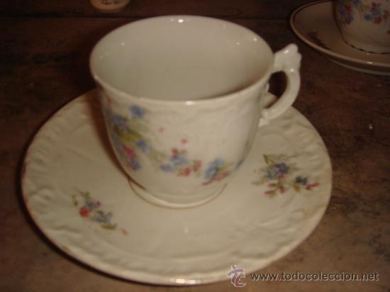 Antigüedades: antiguas 3 tazas con motivos florales . años 20 - Foto 2 - 27475706