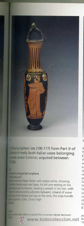 Antigüedades: ARQUEOLOGÍA : ÁNFORA GRIEGA DE FIGURAS ROJAS (CAMPANIA, SIGLO IV A. DE C.) - Foto 8 - 27466412