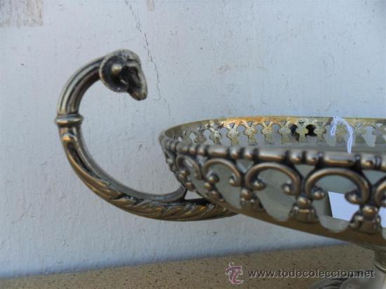 Antigüedades: centro de mesa de alpacar - Foto 2 - 27497615