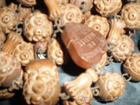 Antigüedades: rosario con cuentas de madera - Foto 3 - 27516647