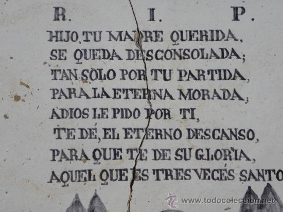 Antigüedades: Azulejo rachola rajola placa funeraria Talavera Tercio Guardia Civil Villaviciosa ( Oviedo) 1876 - Foto 3 - 27502991