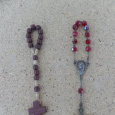Antigüedades: 2 PEQUEÑO ROSARIOS. Lote 27510356