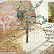 Antigüedades: ROSARIO DE LA VIRGEN DE LOURDES CON FICHA. Lote 27541544