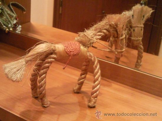 Antigüedades: caballo artesanal hecho con cuerda natural excepcional - Foto 7 - 27534246
