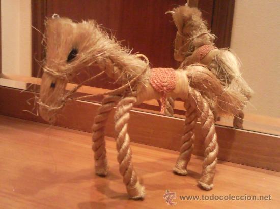 Antigüedades: caballo artesanal hecho con cuerda natural excepcional - Foto 5 - 27534246