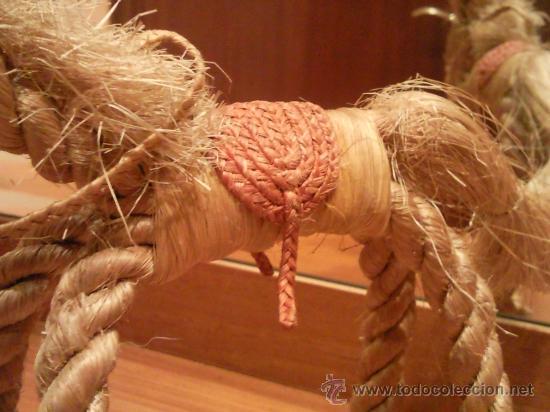 Antigüedades: caballo artesanal hecho con cuerda natural excepcional - Foto 3 - 27534246