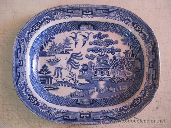 Fuente loza inglesa antigua y de gran tama o comprar - Porcelana inglesa antigua ...