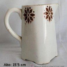 Antigüedades: MUY ANTIGUA JARRA DE PICO LOZA DECORADA. Lote 27571139