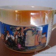 Antigüedades: TAZA TAMAÑO GRANDE CON ESCENA SERIGRAFIADA - DE COLECCION. Lote 27618817