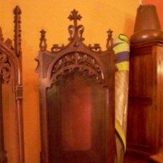 Antigüedades: PRECIOSA CAPILLA DE NOGAL. Lote 27651505