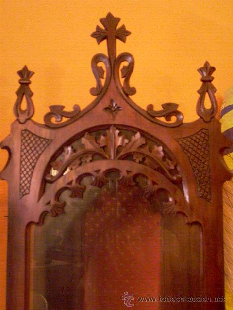 Antigüedades: PRECIOSA CAPILLA DE NOGAL - Foto 2 - 27651505