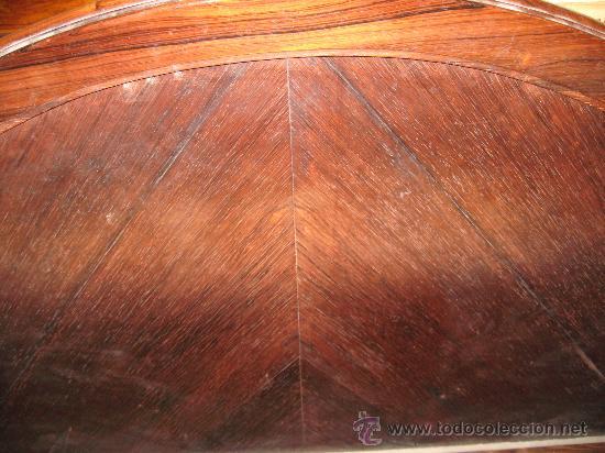 Antigüedades: Cama de madera Palo Santo - Cabecero y piecero - 1,35 m. con largeros - - Foto 3 - 27736592
