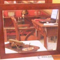 Antigüedades: ESPEJO DE CAOBA. Lote 27786887