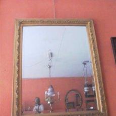 Antigüedades: GRAN ESPEJO DORADO CON CRISTAL BISELADO. Lote 27788721