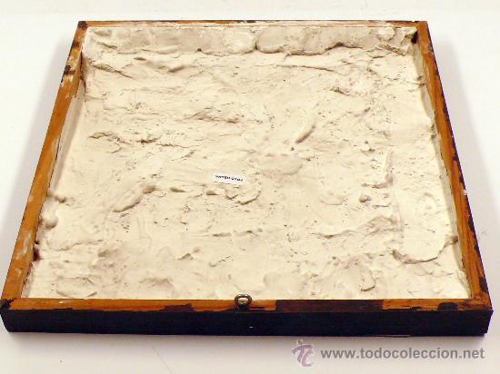Antigüedades: Plafón de 4 azulejos antiguos, 13,5 cm cada uno. - Foto 4 - 27792913